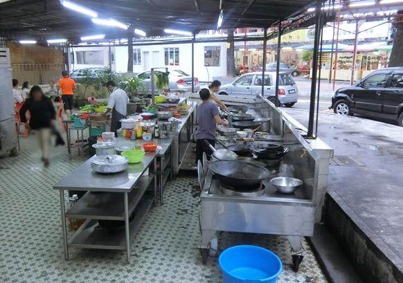 マレーシア クアラルンプール「Soo Kee Restaurant ソーキー」店内キッチン