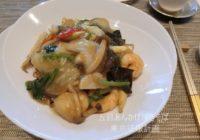 東京ミッドタウン日比谷「中国料理 礼華 四君子草」海鮮と季節野菜の焼きそば